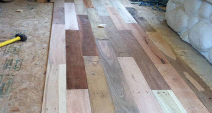 Man Remodels Floor Recycled Wood Pallets Photos