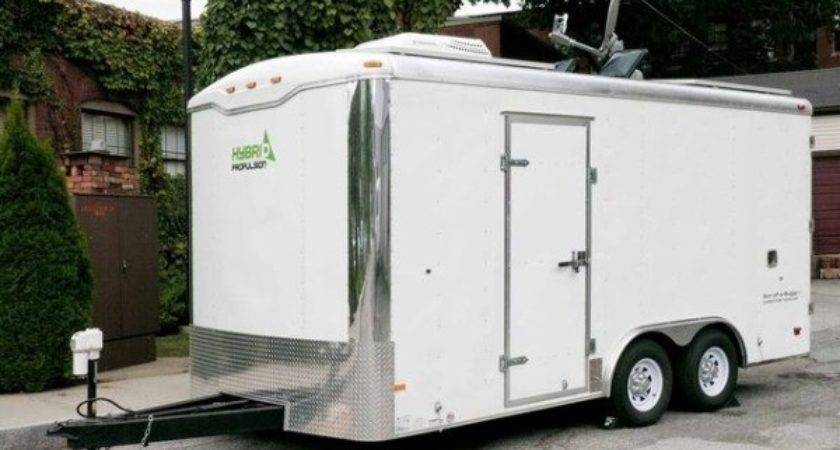 Man Turns Cargo Trailer Into Transforming Stealth Tiny House