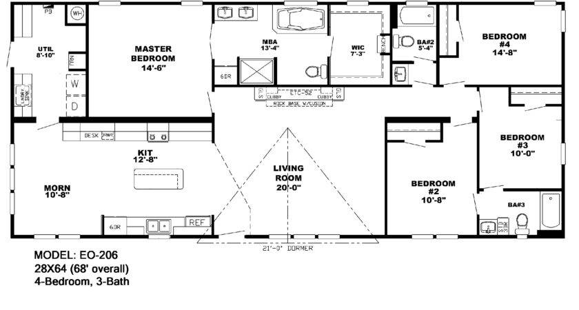 Manufactured Homes Floor Plans Double Wide Bestofhouse