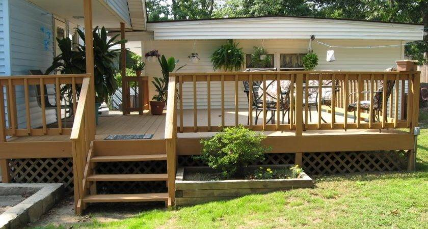 Maple Deck Ideas Small Yard Design Blue Exterior