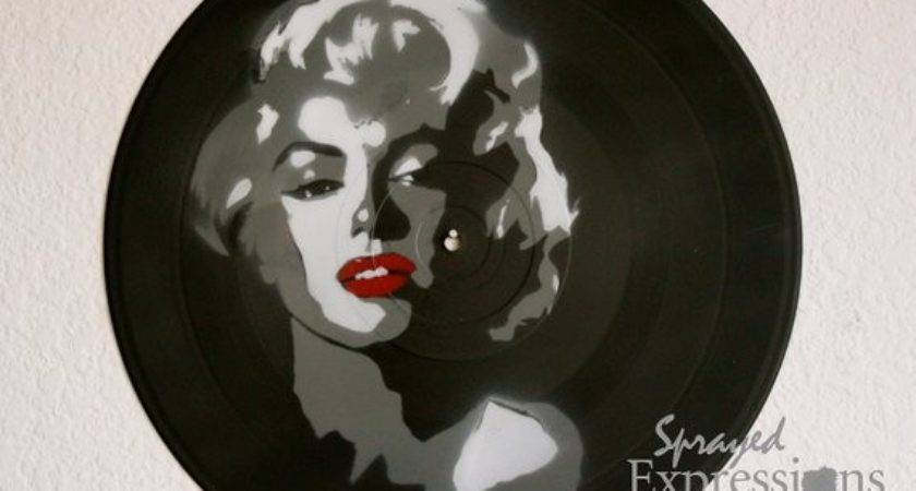Marilyn Monroe Vinyl Record Painting