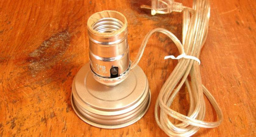 Mason Jar Lamp Adapter Kit Electrical Parts Vintagehardware