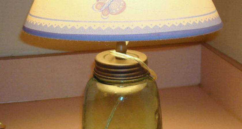 Mason Jar Vintage Lamp Single Adapter