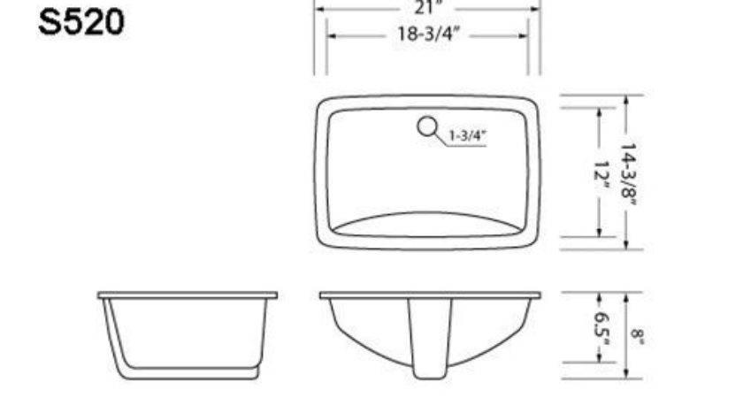 Measure Bathroom Sink