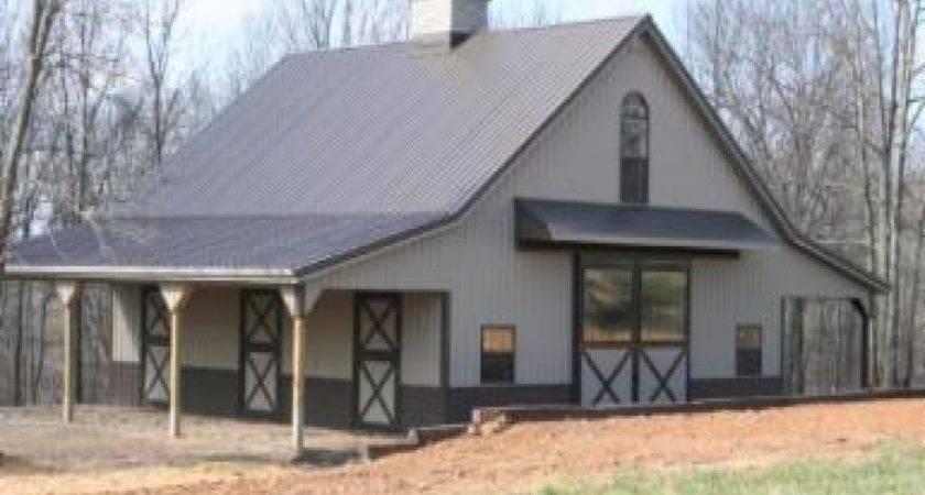 Metal Barn House Pole Homes Siding Home