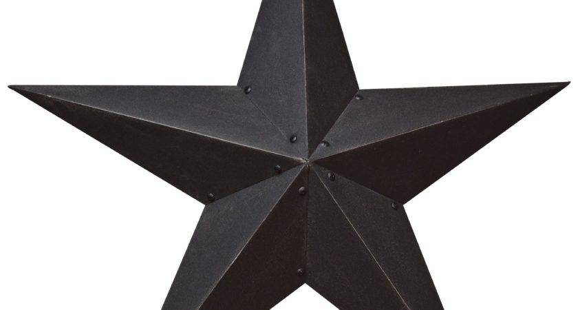 Metal Barn Star Primitive Tin Black Red Ebay