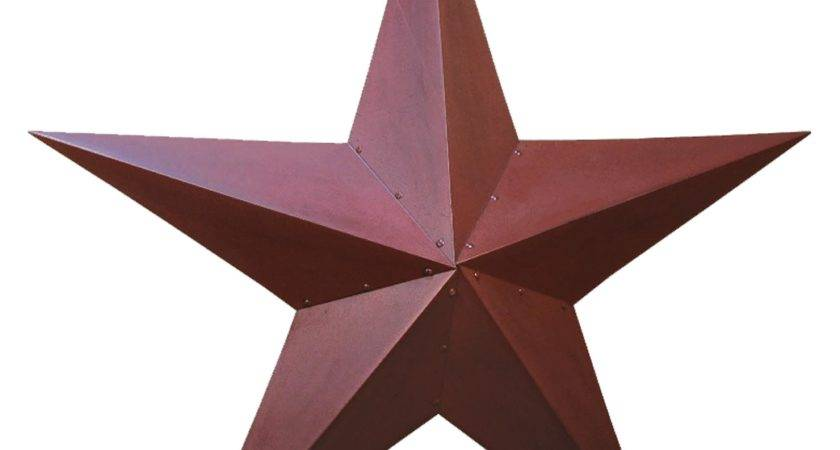 Metal Barn Star Primitive Tin Black Red