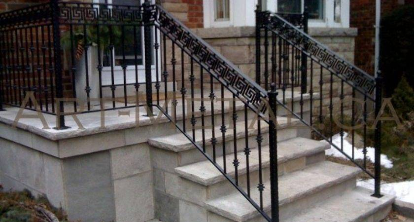 Metal Handrails Outdoor Stairs More Decor