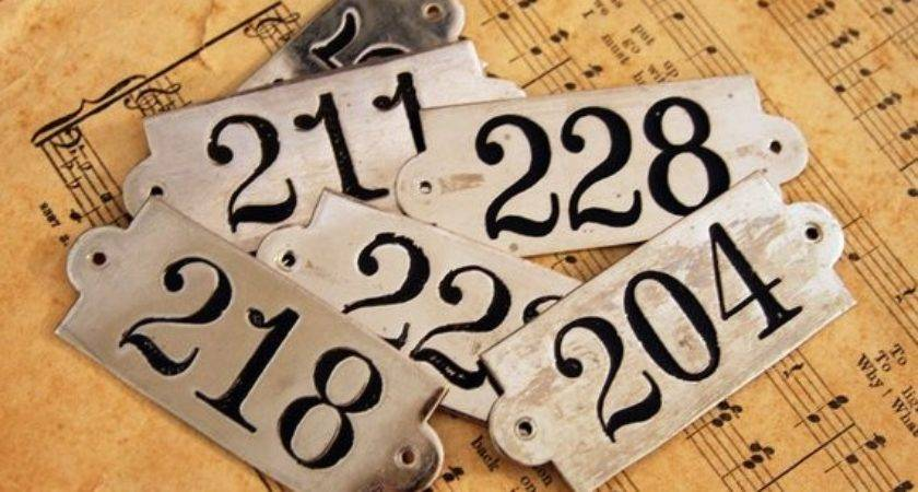 Metal Number Locker Tag Perfect Altered Mixed
