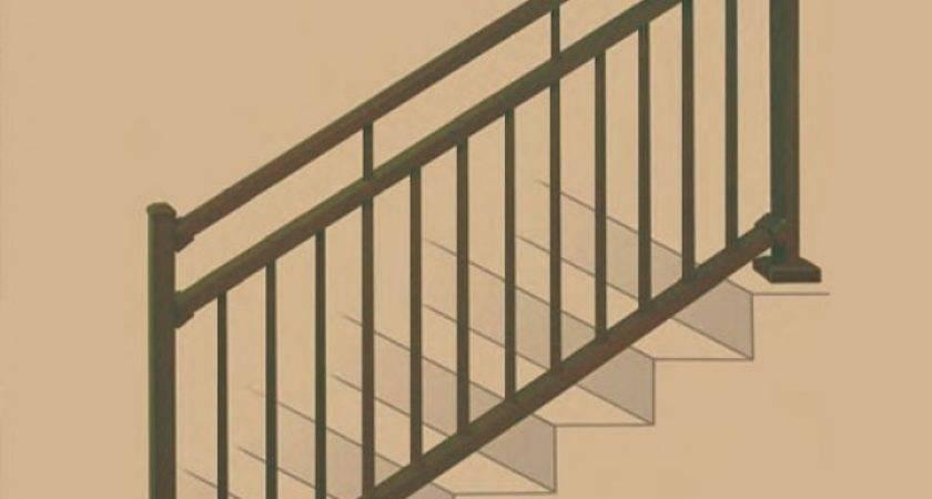 Metal Stair Railing Deck Porch Aluminum