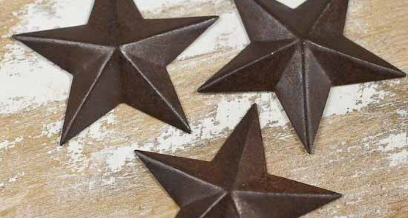 Miniature Rustic Tin Barn Stars Rusty Cutouts