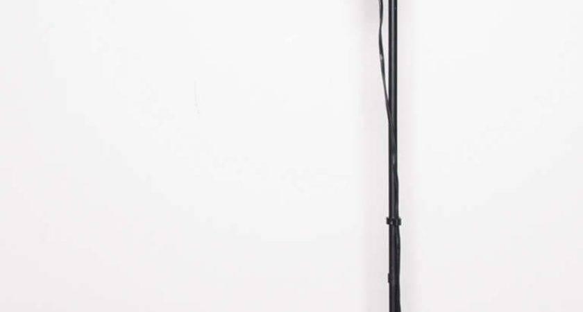 Minimalist Adjustable Height White Black Floor Lamp