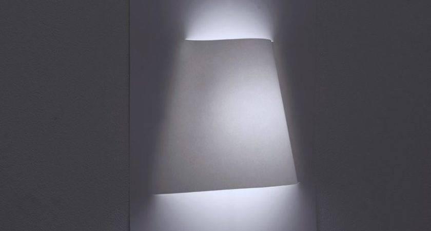 Minimalist Wall Lamp Made Sheet Paper