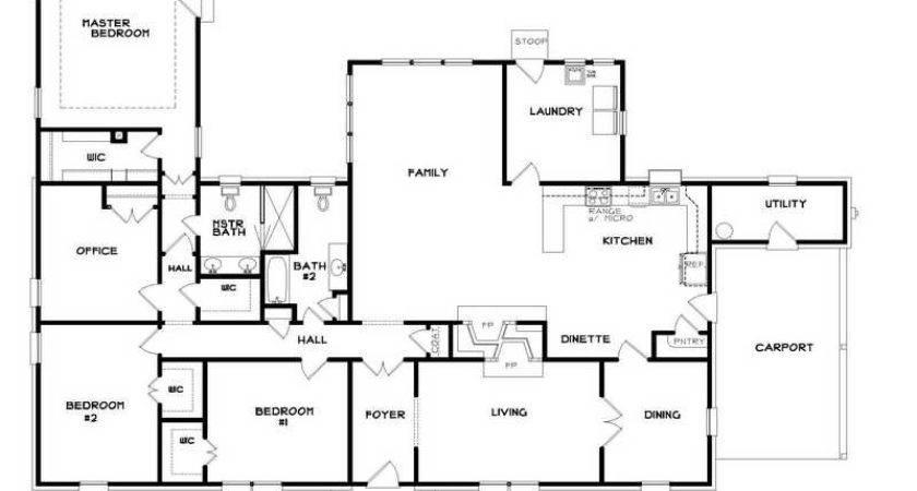 Miscellaneous Ranch Home Floor Plans Popular