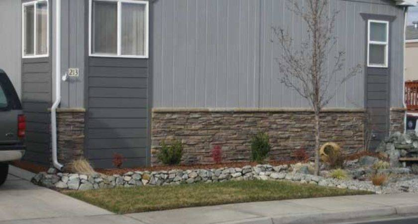 Mobile Home Faux Stone Skirting Antico Elements Blog