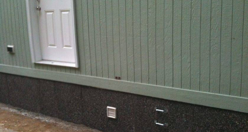 Mobile Home Rock Skirting Perfect Place Live