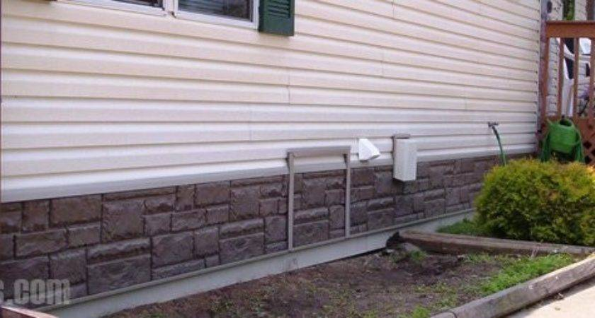 Mobile Home Skirting Brick Rock Stone Panel Options