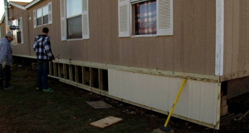 Mobile Home Skirting Ideas Aesthetics Outdoor