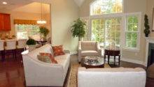 Model Home Living Room Transitional Mid