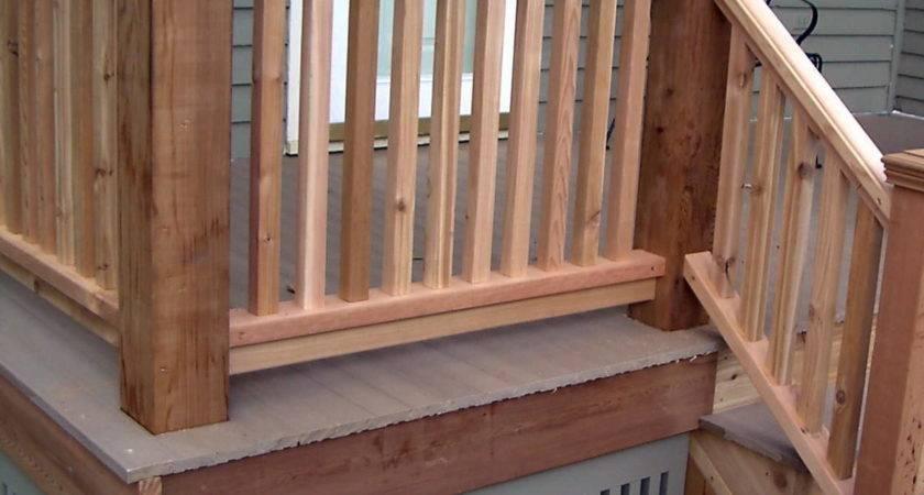 Monterey Wood Porch Railing Ideas Design