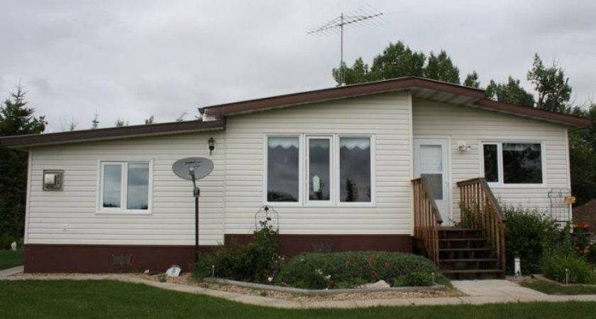 Moved Double Wide Mobile Home Viking Alberta Estates