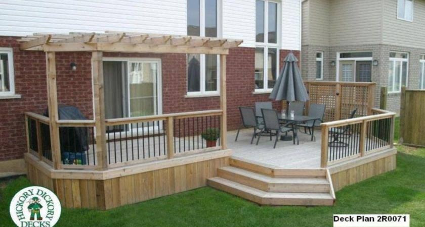 Multi Level Deck Designs Plans