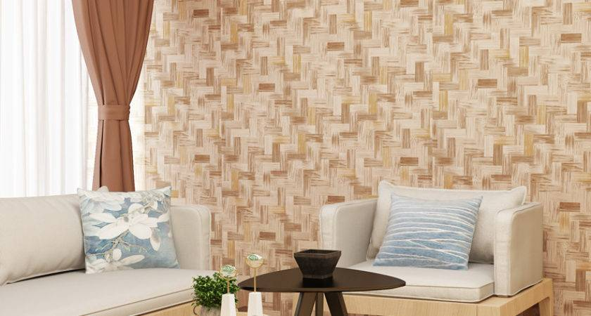 Natural Bamboo Wall Covering Into Glass Very