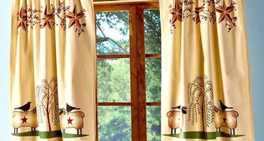 New Primitive Country Folk Art Willow Tree Barn Star