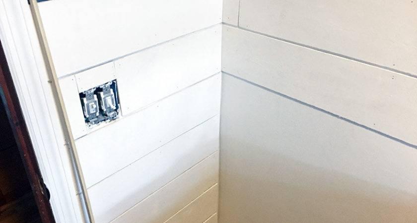 Not Install Diy Faux Shiplap Walls Pretty Purple Door