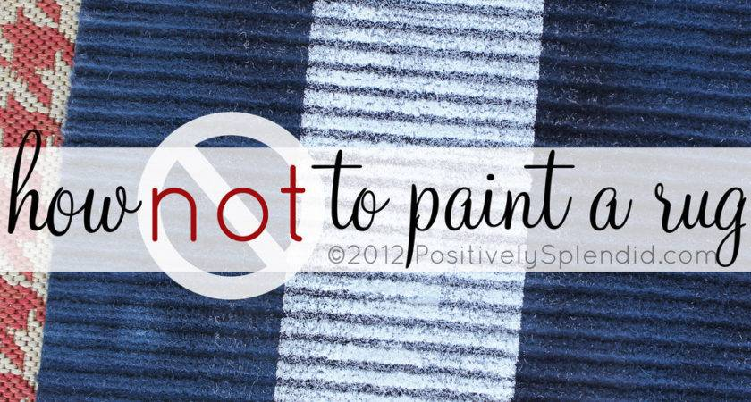 Not Paint Rug Positively Splendid Crafts