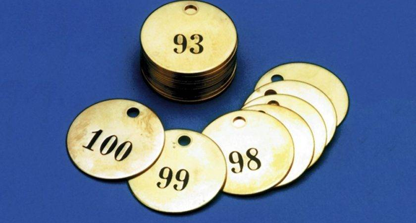 Numbered Brass Tdn