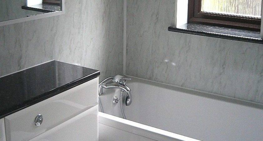 Orion Carrara Marble Effect Panels Bathroom Marquee
