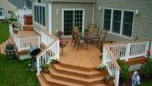 Outdoor Inspiring Deck Design Nice Cozy