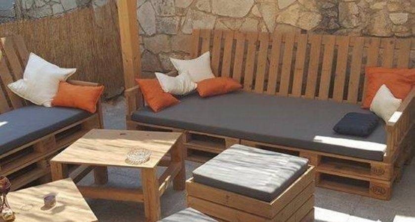 Outdoor Pergola Lounge Seating Pallets Pallet