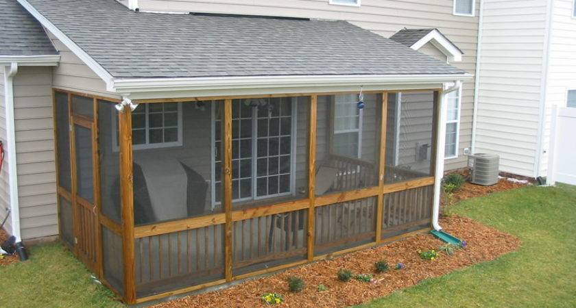 Outdoor Screened Patio Designs Drainage Ditch