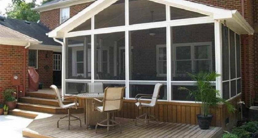 Outdoor Screened Porch Plans Ideas Gas Fireplace