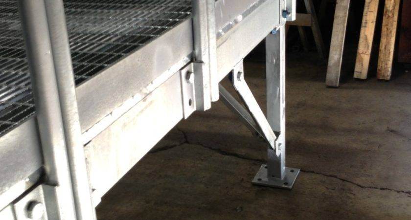 Outdoor Stairs Construction Trailers