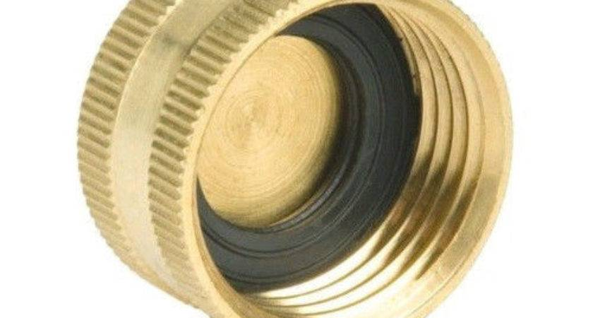 Pack Brass Garden Water Hose End Caps Fit Washing
