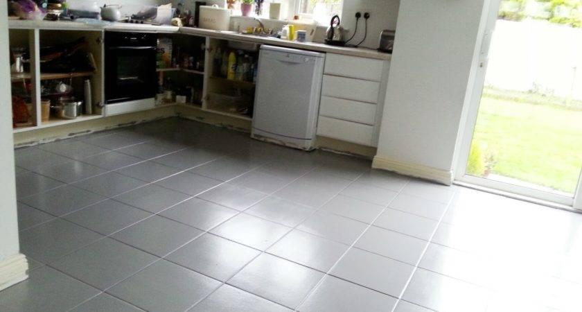 Painted Tile Floor Really Make Diy