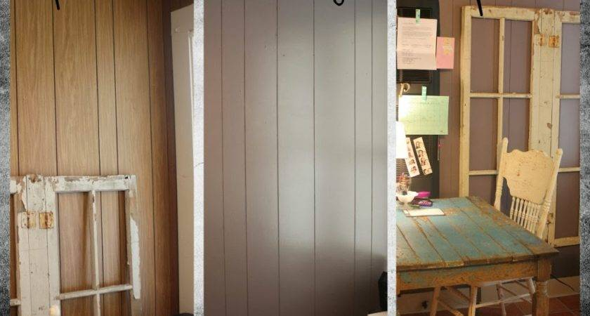 Painted Wood Paneling Before After