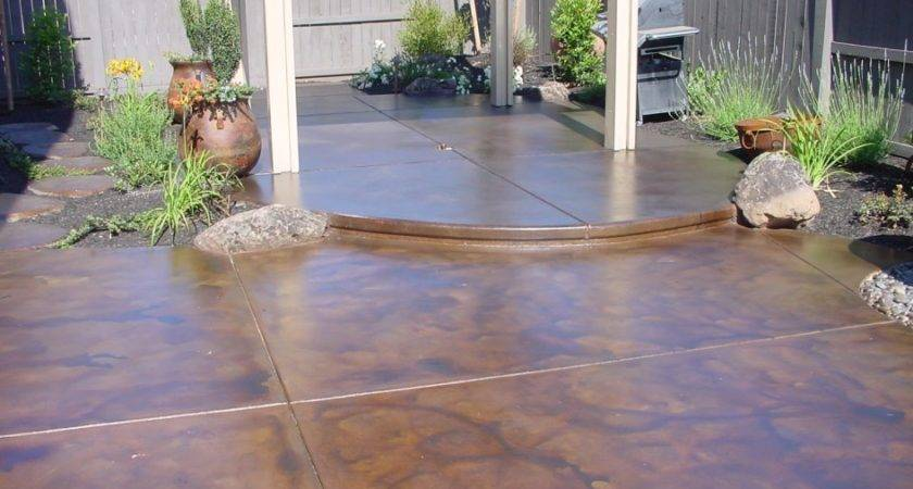 Painting Concrete Patio Outdoor Decorate