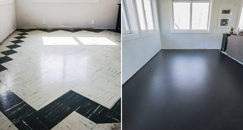 Painting Living Room Floor Tiles Part