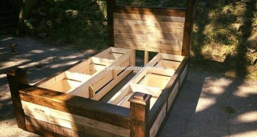 Pallet Bed Storage Plans Wood Projects