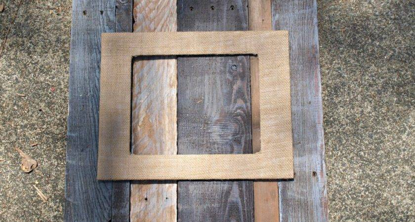 Pallet Burlap Frame Simply Swider