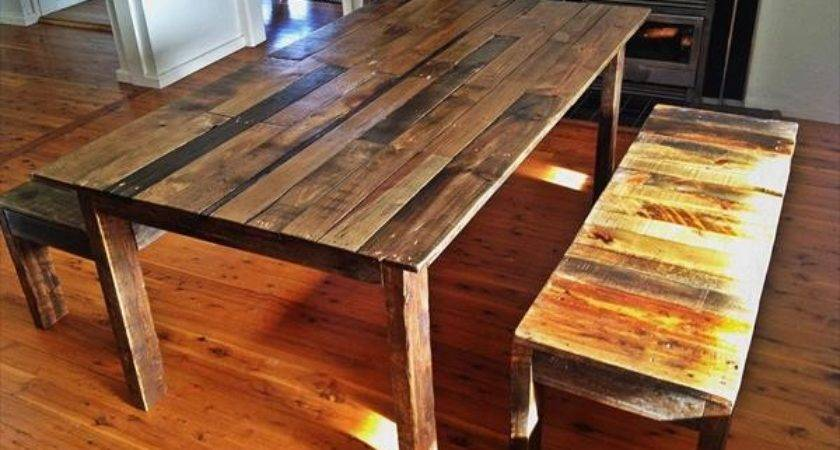 Pallet Dining Table Benches Furniture Plans