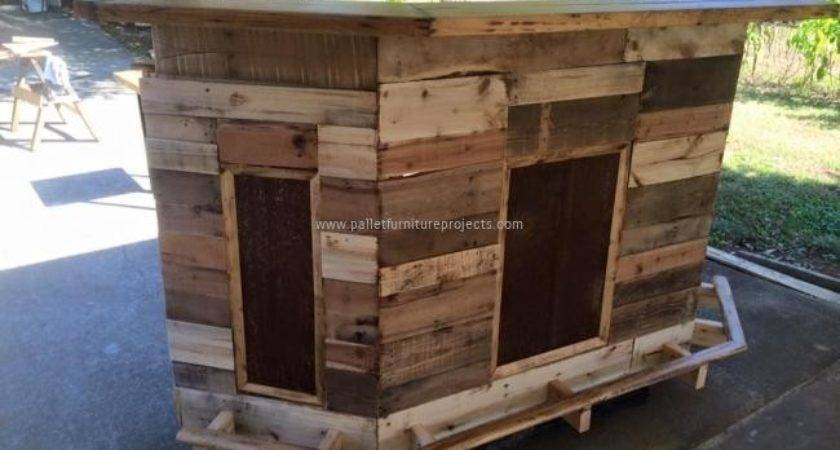 Pallet Furniture Projects Wood Bar