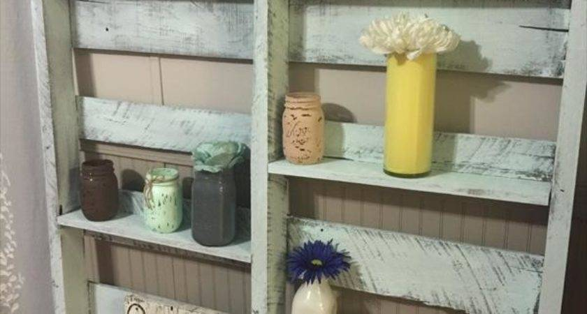 Pallet Home Decor Display Shelf Furniture Plans
