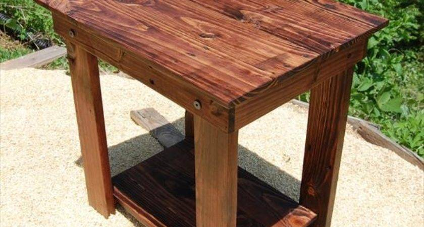 Pallet Side Table Nightstand Furniture Plans