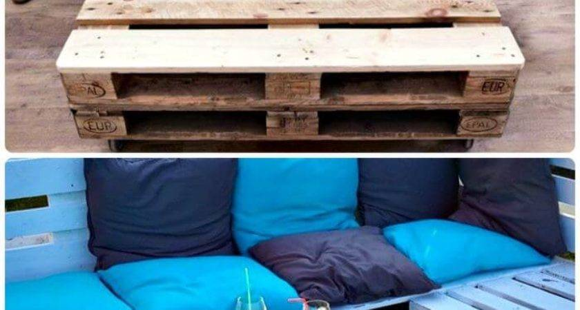 Pallet Sofa Diy Plans Crafts