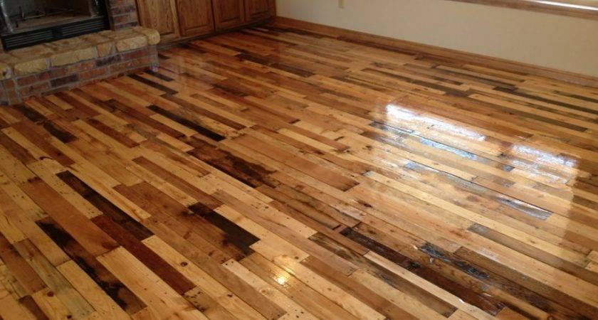 Pallet Wood Floor Over Concrete Wooden Flooring